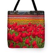 Springtime Tulip Field Art Prints Tote Bag
