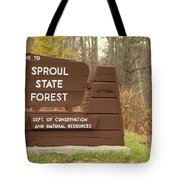 Sproul State Forest Tote Bag