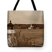 Squirrel Point Lighthouse Tote Bag by Skip Willits