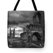 St Andrews Cathedral And Gravestones Tote Bag