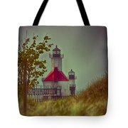St. Joseph North Pier Lighthouse Lake Michigan. Tote Bag