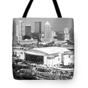 St. Pete Times Forum And Tampa Skyline Tote Bag