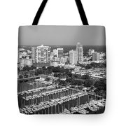 St Petersburg Skyline And Yacht Basin Marina Tote Bag