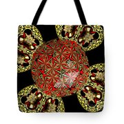 Stained Glass Kaleidoscope Under Glass Tote Bag