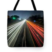 Standing In Car On Side Of The Road At Night In The City Tote Bag