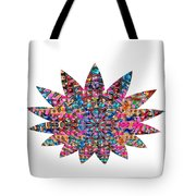 Star Ufo U.f.o. Sprinkled Crystal Stone Graphic Decorations Navinjoshi  Rights Managed Images Graphi Tote Bag