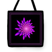 Starburst-32 Framed Black And Pink Tote Bag