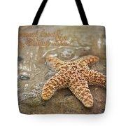 Starfish On Beach Tote Bag