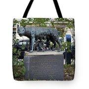 Statue In A Paris Park Tote Bag
