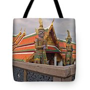 Statues At A Temple, Wat Phra Kaeo Tote Bag