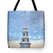 Steeple And Rooftops Tote Bag