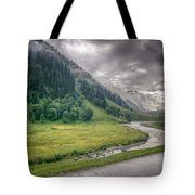 storm clouds over mountains of ladakh Jammu and Kashmir India Tote Bag