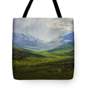 Storm Clouds Over The Klondike Valley Tote Bag