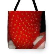 Strawberry Lips Tote Bag by Joann Vitali