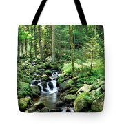 Stream Flowing Through A Forest, Usa Tote Bag
