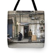 Street Food Stall In Shanghai China Tote Bag