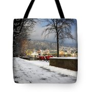 Street With Snow Tote Bag