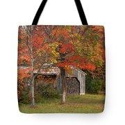 Sugarhouse In Autumn Tote Bag