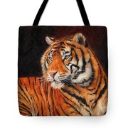 Sumatran Tiger Tote Bag by David Stribbling