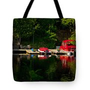 Summer Morning On Muskoka River Tote Bag