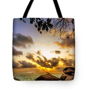 Sun Sand Sea And Rocks Tote Bag