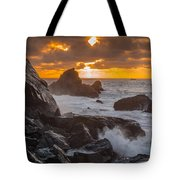 Sun Sets On Patrick's Point Tote Bag