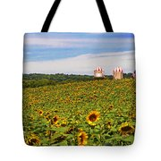 Sunflower Field New Jersey Tote Bag