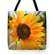 Sunflower With Texture Tote Bag