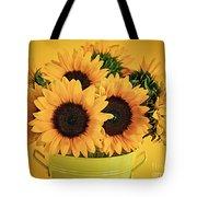 Sunflowers In Vase Tote Bag by Elena Elisseeva