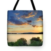 Sunrays At The Lake Tote Bag