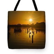 Sunrise On The Bon Secour River Tote Bag