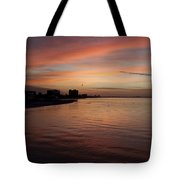 Sunrise Over Fort Myers Beach Photo Tote Bag