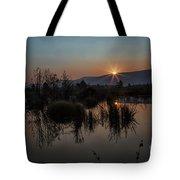 Sunrise Over The Beaver Pond Tote Bag