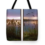 Sunset At Fort Smallwood Tote Bag