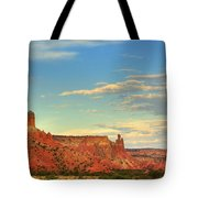 Sunset At Ghost Ranch Tote Bag