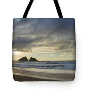 Sunset At Holywell Bay Tote Bag