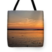 Sunset At Loch Bay Tote Bag