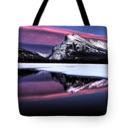 Sunset Mount Rundle Tote Bag