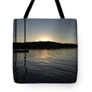 Sunset On The Pier Tote Bag