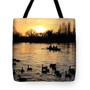 Sunset On The Thames At Walton Tote Bag