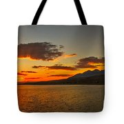 Sunset Over Mackay Reservoir Tote Bag
