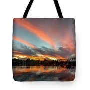 Sunset Over New Hope Tote Bag