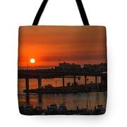 Sunset Over The Bridge Tote Bag