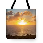 Sunset Over The Pacific Ocean, Torrey Tote Bag