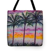 Sunset Trio Tote Bag by Eve  Wheeler