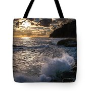 Sunset Waves Tote Bag
