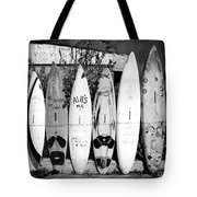 Surf Board Fence Maui Hawaii Tote Bag by Edward Fielding