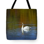 Swan On Wintergreen Lake Tote Bag