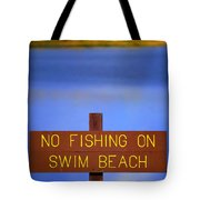 Swim Beach Sign II Tote Bag