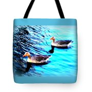 Swim With Me To The End Of Time  Tote Bag
